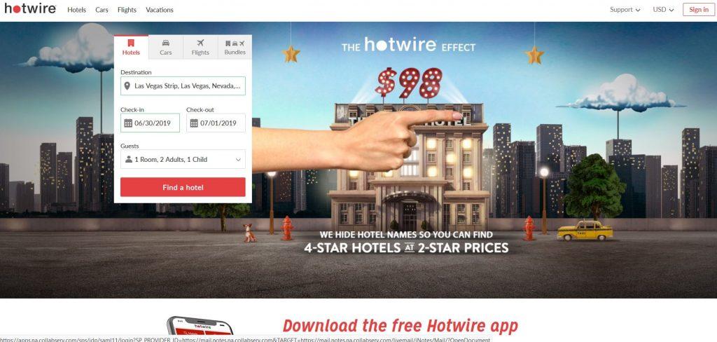 【ラスベガスでホテル予約】ホットワイヤー(Hotwire)をご紹介