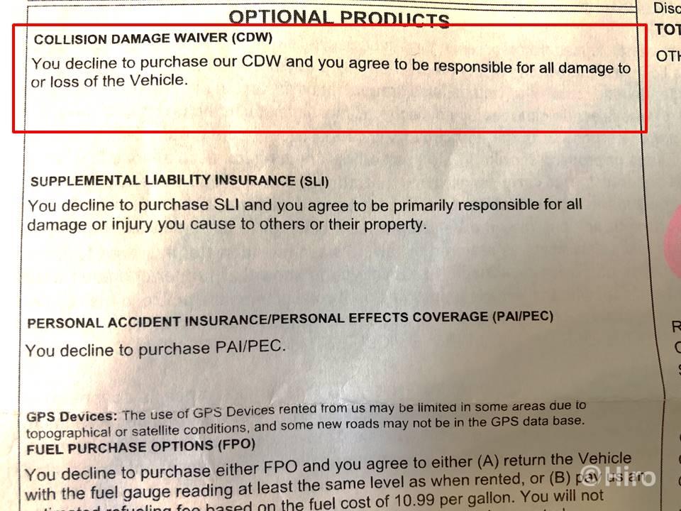 LDWやCDW保険に加入する