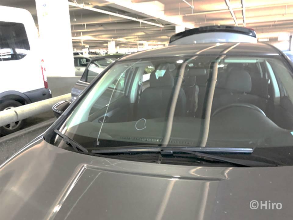 【体験談】アメリカのレンタカーでの注意・とび石被害にあう