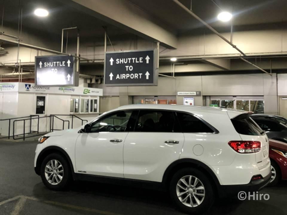 ラスベガスの空港併設のレンタカーセンターでの返却