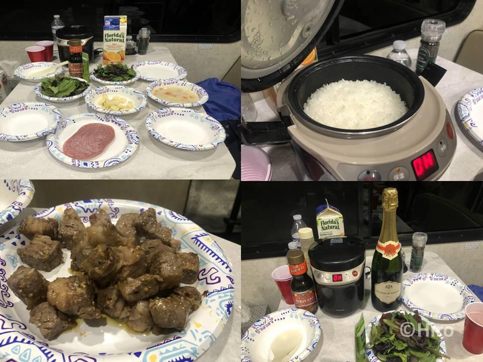 【アメリカキャンピングカー旅行】レイクパウエルの昼食と夕食