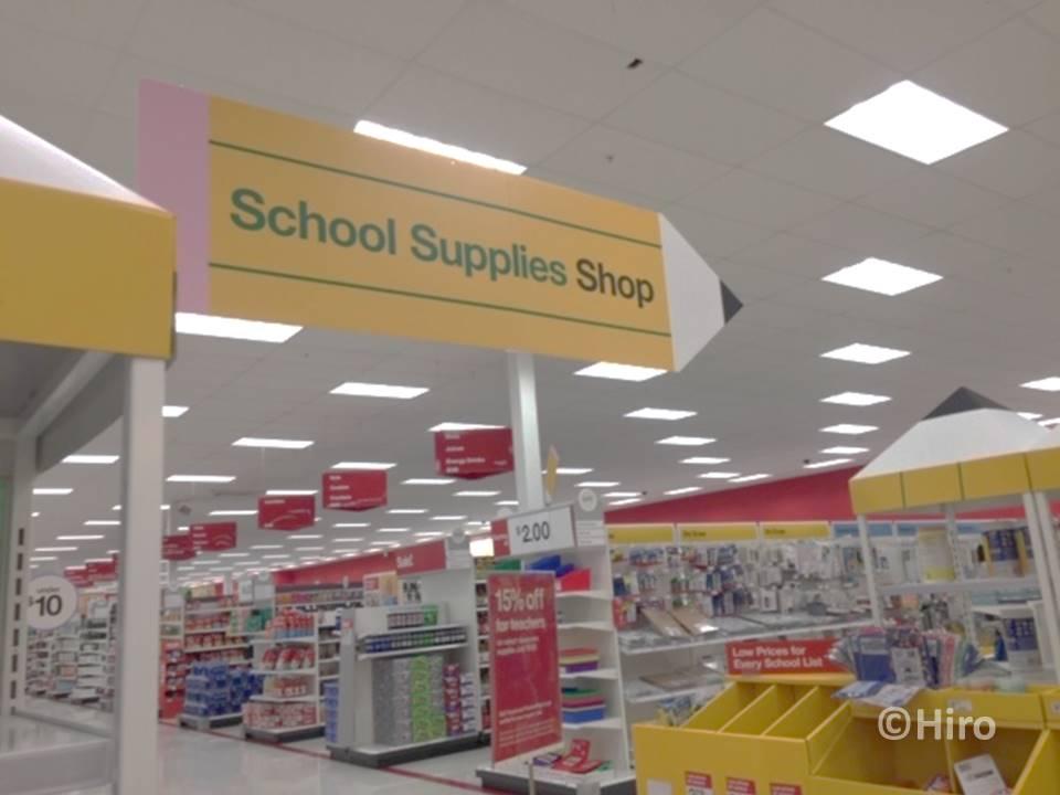 アメリカのBack to school(バックトゥスクール)はどこでセールする?