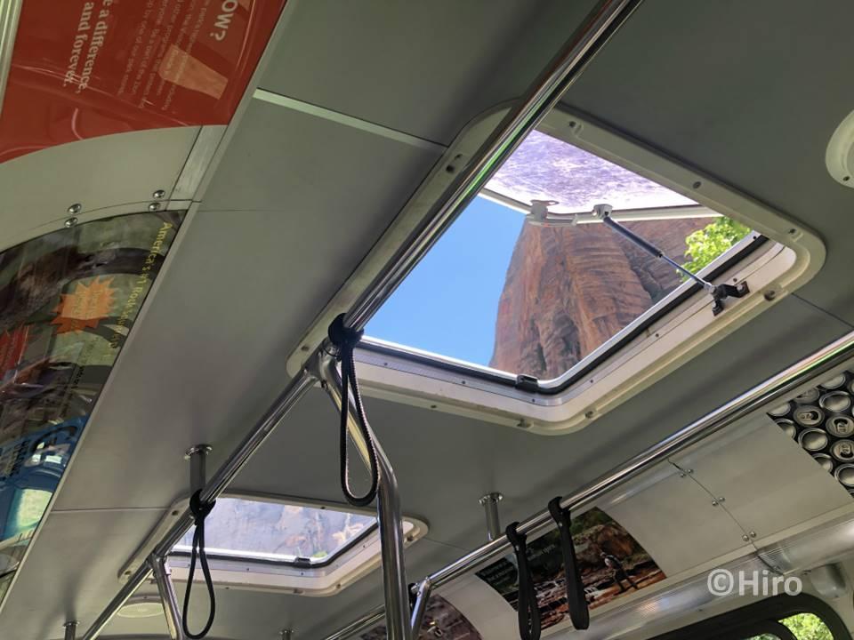 シャトルバスからゆっくり景色を見る