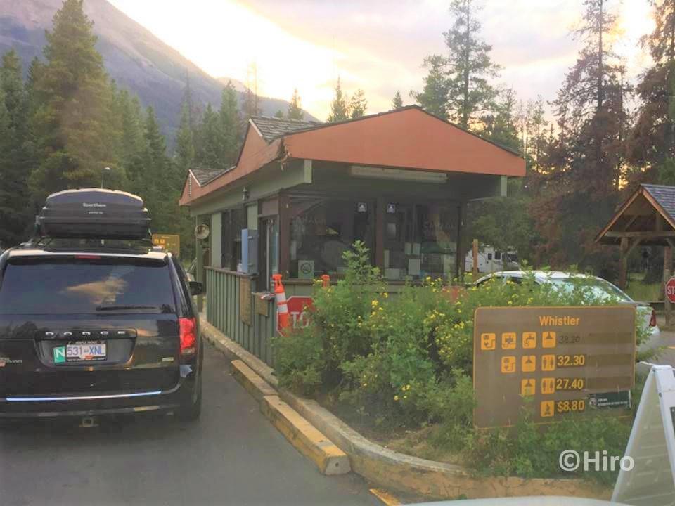 キャンピングカーでジャスパー(Jasper)国立公園までの移動