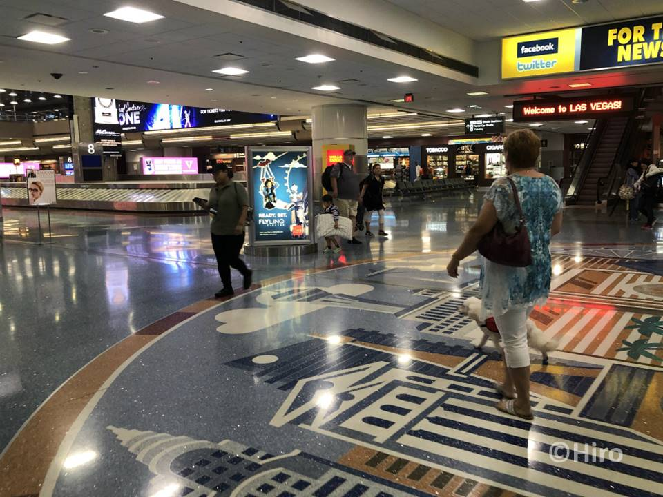 マッカラン国際空港での荷物を受け取るバゲッジクレームの場所