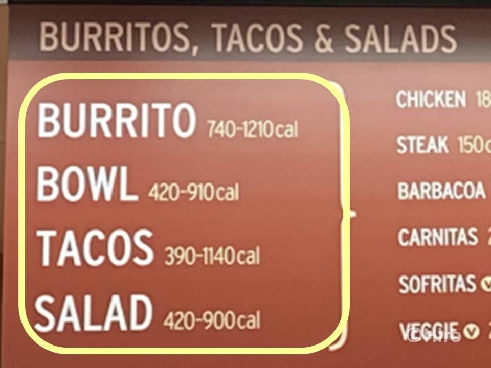 1、実は「ブリト―」「ボウル」「タコス」「サラダ」の4種類だけ