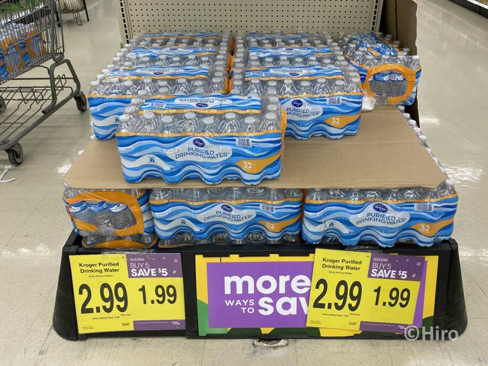 クローガー(kroger)のおすすめ・ペットボトルの水(Kroger PURIFIED DRINKING WATER) 32本入り