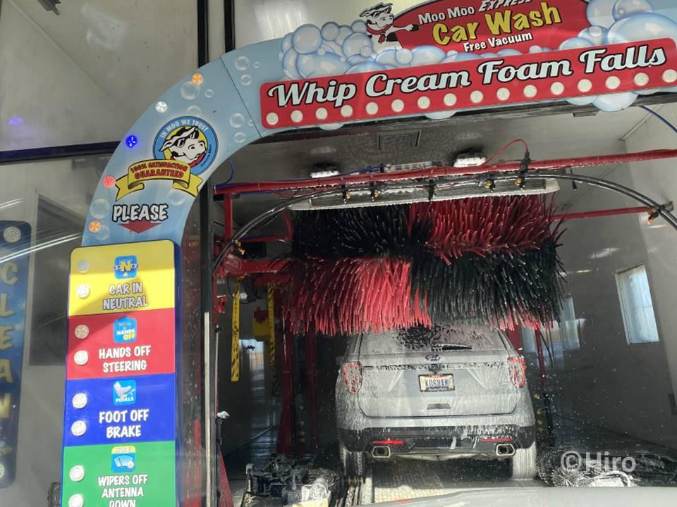 洗車場での購入方法と進入方法はどういう感じなの?